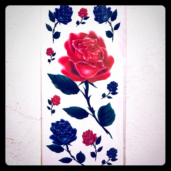 Other | Temporary Pink Blue Rose Tattoos | Poshmark